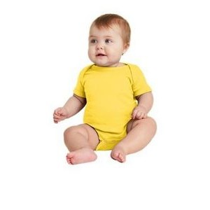 Rabbit Skins™ Infant Short Sleeve Baby Rib Bodysuit
